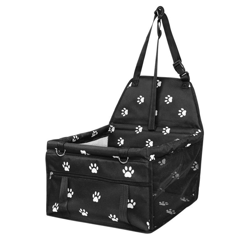 Hot 1PCS Car Booster Seat Travel Carrier Cage Oxford Breathable Folding Soft Washable Travel Bags For Dogs Cats