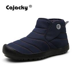 Homens botas de neve de pelúcia botas de neve de inverno quente sapatos de pele forro de tornozelo botas de neve unisex botas hombre durável sola de borracha