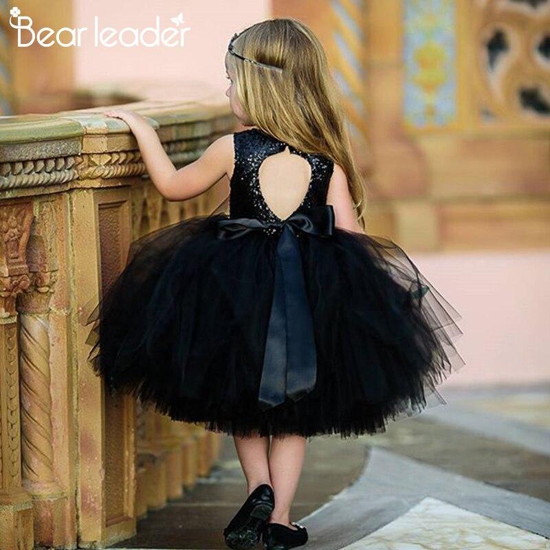 Bear Leader Girls Dresses Summer Kids Princess Dress O-neck Ball Gown Kids Clothes Open Back Toddler Girl Children Costume