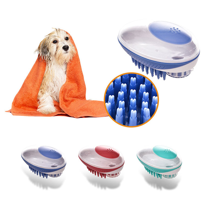 Dog Bath Brush Comb Tool Silicone Pet SPA Shampoo Massage Brush Hair Removal Comb Pet Cleaning Grooming Tools For Dogs Cats