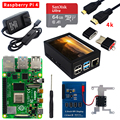 Raspberry Pi 4 Model B Kit 2GB/4GB/8GB RAM + SD Card + Case + Cooling Fan + 4K HD Video Cable + Power Supply for Raspberry Pi 4B