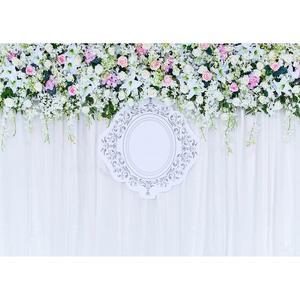 Image 3 - Foto Kulissen Bunte Blumen Bänder Vinyl Tuch Hintergrund für Hochzeit Liebhaber Valentinstag Photo Fotografie Requisiten
