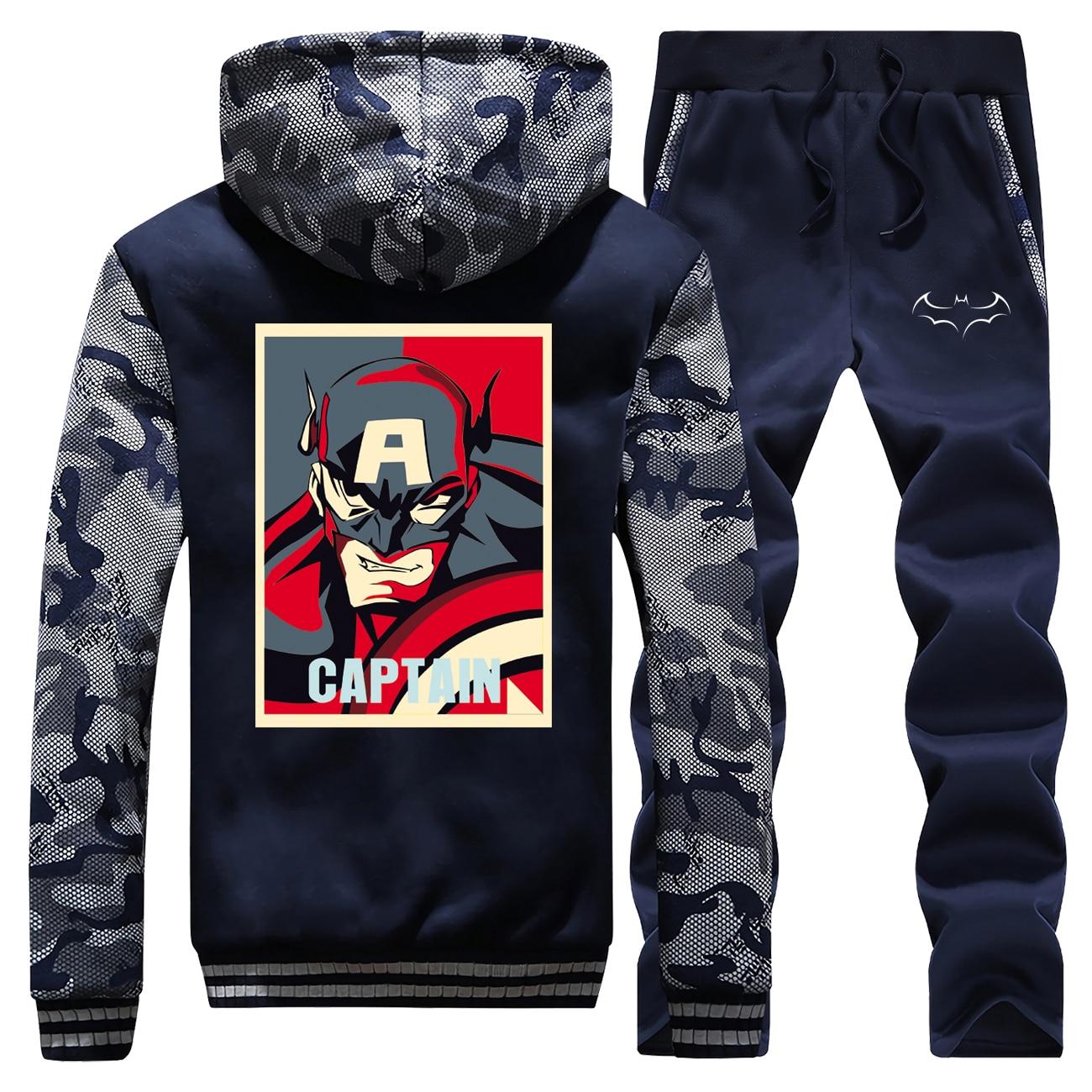 Superhero Batman Tracksuits Jacket Pant Set Men The Dark Knight Bat Man Avengers Sportsuit Sweatpant Suit 2 PCS Coat Sportswear