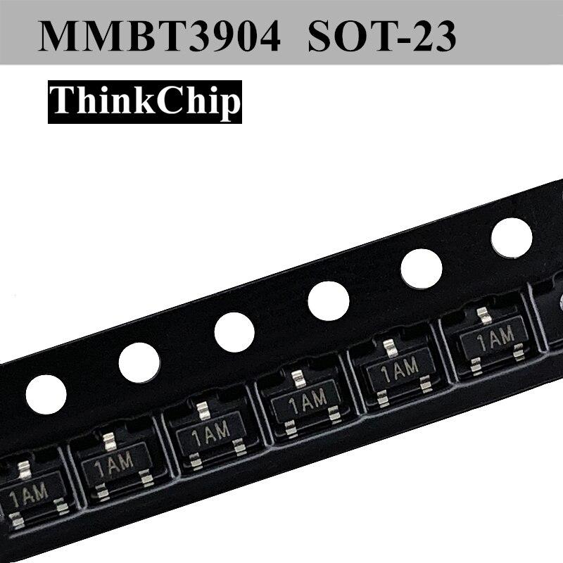 Free Shipping 100pcs/lot MMBT3904 1AM SOT-23 2N3904 3904 SMD 40V 200mA NPN Transistor NEW Original