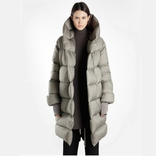 New fashion fluffy goose down warm oversized down parkas