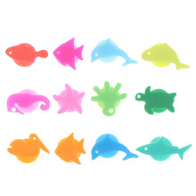 12Pcs/Set Silicone Marine Animals Wine Glass Marker Drinking Cup Identifier Tag Signs for Party (Mixed Colors)(China)