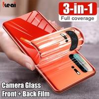 Protector de pantalla para Huawei P30 Lite P40 Pro hidrogel de película para Huawei Mate 20 Lite Honor 20 Pro P Smart 2019 cristal templado protección de la cámara vidrio accesorios del teléfono móvil
