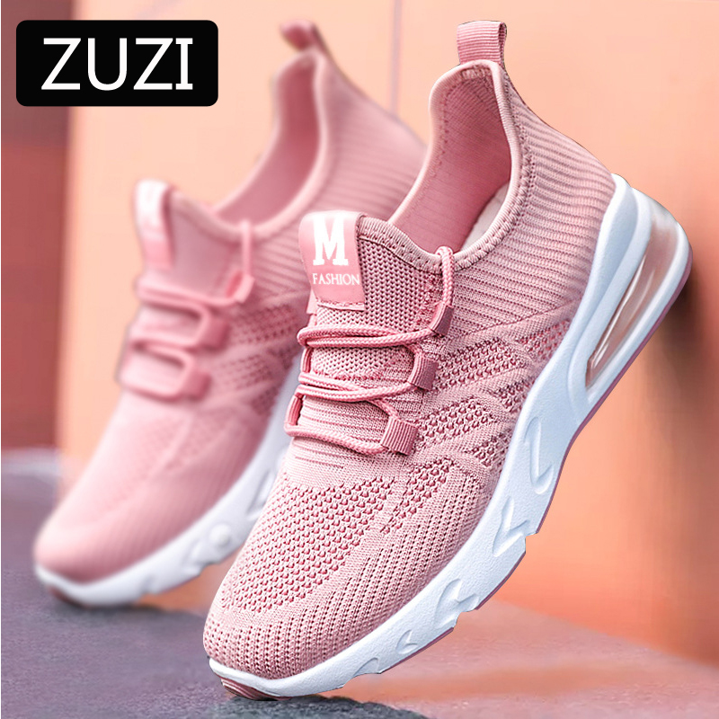 ZUZI Shoes Spring 2021 New Women's Shoes Breathable Ladies Casual Sneakers Soft Bottom Running Shoes Air Mesh Sports Shoes|Women's Vulcanize Shoes| - AliExpress