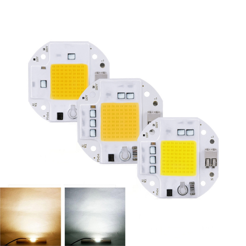 High Power 20W 30W 50W COB LED Chip 220V 110V LED COB Chip Welding Free Diode For Spotlight Floodlight Smart IC No Need Driver
