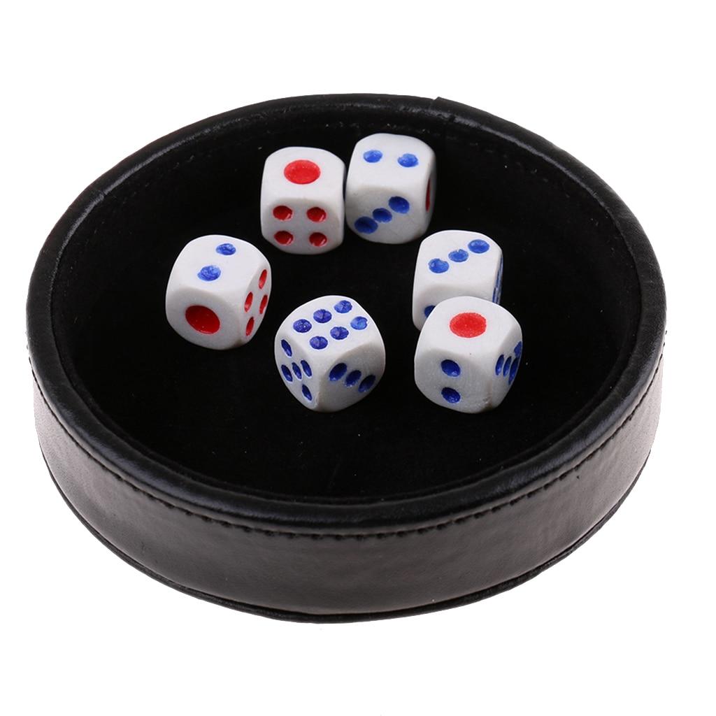Plateau à dés accessoires de Casino, couvercle noir pour Texas Hold'em Poker 21 points