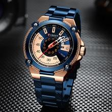 Nowy kreatywny zegarek męski moda biznes zegarki kwarcowe Top marka zegarek CURREN ze stali nierdzewnej zegar Relogio Masculino