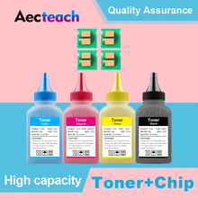 Aecteach 1Set Color Toner Powder & Chip CRG329 Compatible for Canon I-sensys LBP7018C LBP7010C LBP7010 LBP 7010 7010C LBP-7018C