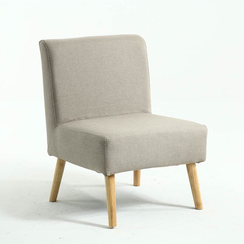 Single Sofa, Solid Wood Fabric, Lazy Chair, Small Apartment, Balcony, Bedroom, Leisure, Japanese Style, Nordic Double Combinatio
