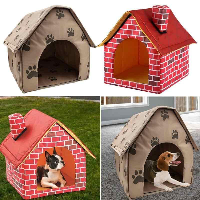 Gorąca sprzedaż psia buda delikatny projekt składany psia buda mały ślad Pet namiot z łóżkiem kot hodowla podróży pies akcesoria