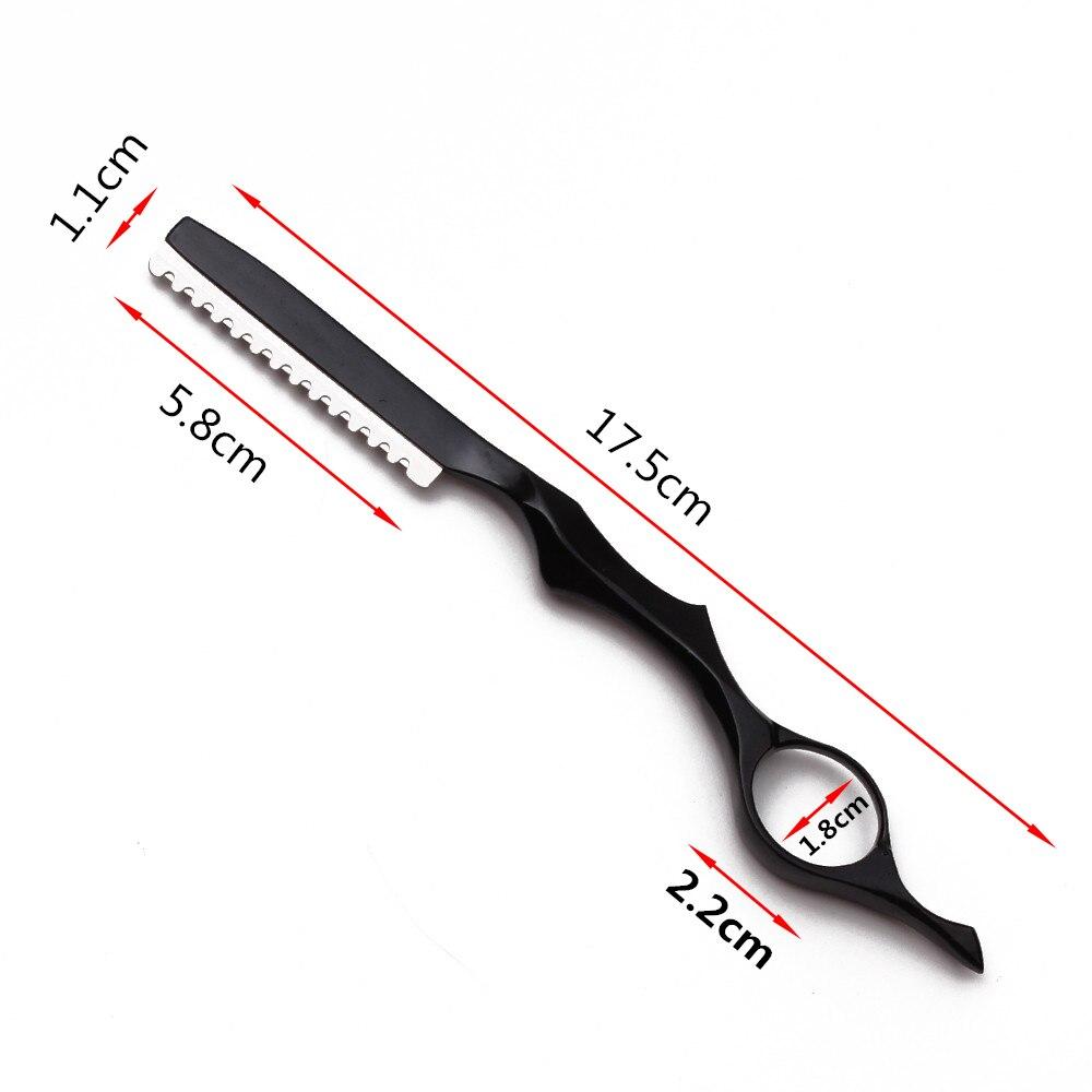 Lâminas de barbear afiadas profissionais, 17.5cm, 1