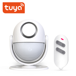 WiFi Tuya PIR Motion Sensor Detector  Build-in buzzle Battery Powered  Home Alarm System work with IFTTT Smart Life