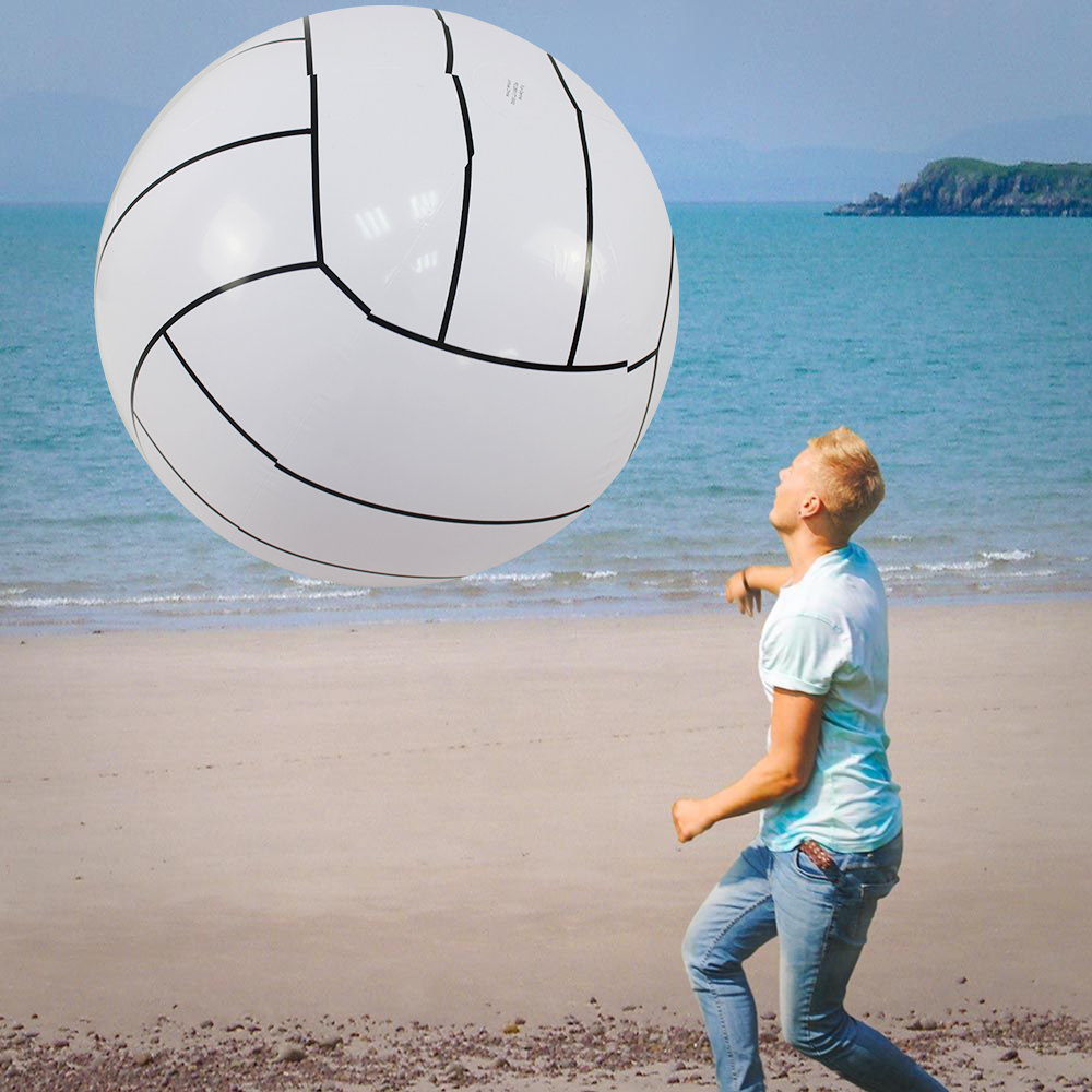 90/150cm Giant Inflatable Beach Ball For Adult Kids Water Balloons Volleyball Football Beach Lawn Summer Party Outdoor Fun Toys
