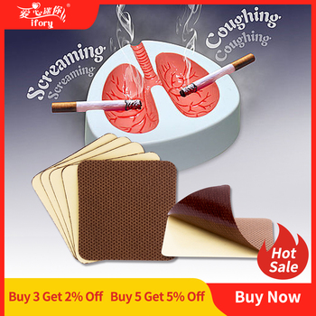 Ifory Anti Smoke Patches Natural Herbal Nicotine Patch 50 Pieces/10 Bags Stop Smoking Plaster Control the Desire for Cigarettes