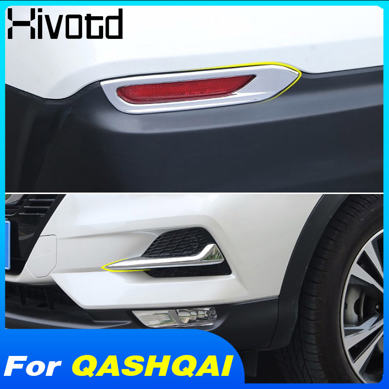 US $9.5 38% OFF|Hivotd For Nissan qashqai j11 Dualis 2019 2020 Car Front Rear Fog Light Eyebrow Cover frame trim ABS Chrome Exterior Accessories|Chromium Styling| |  - AliExpress
