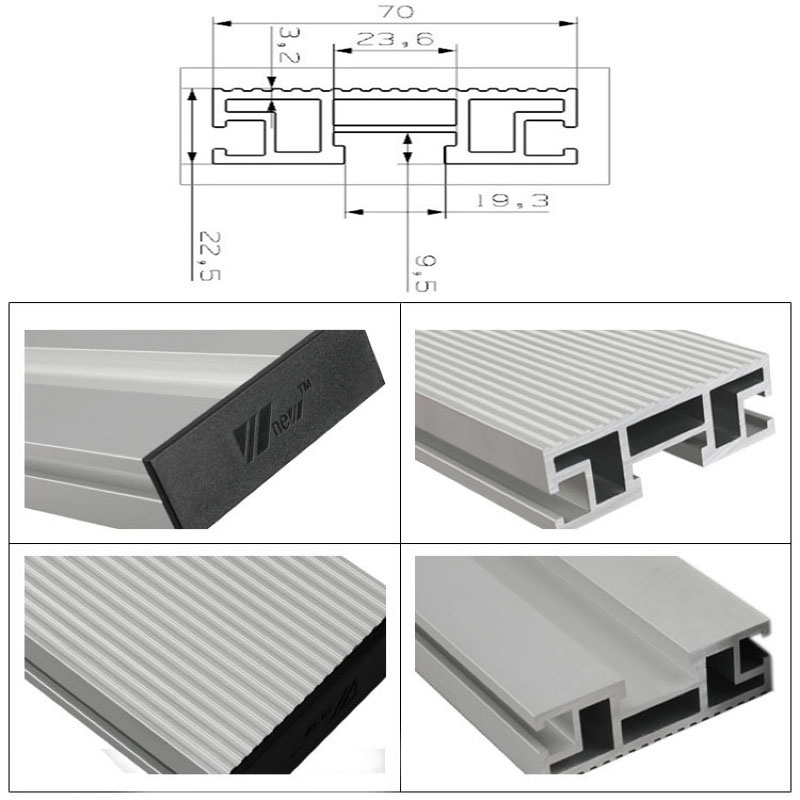 450/600/800mm Aluminium Profile 70mm Height T-tracks For Woodworking Workbench DIY Modification