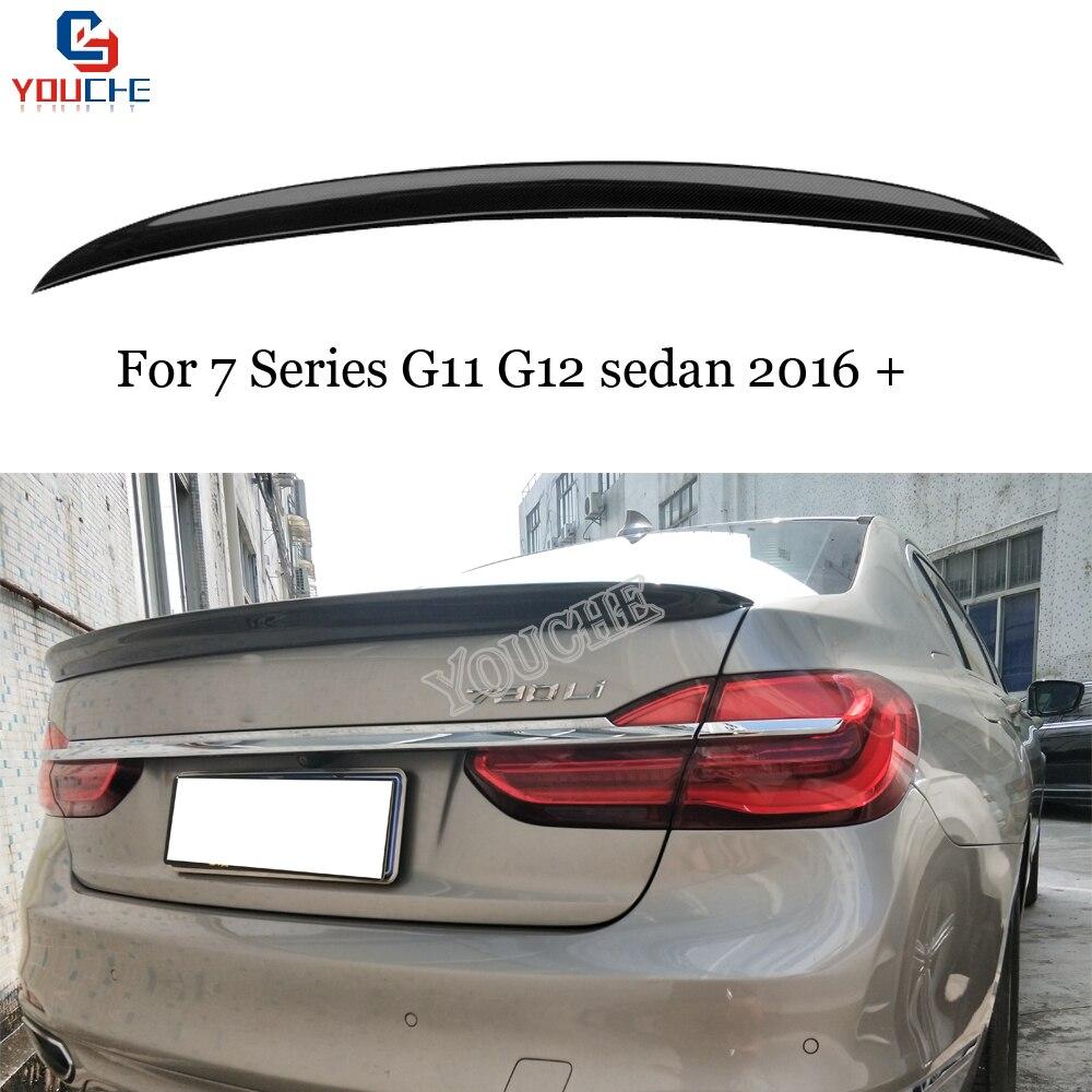 G11 リアトランクスポイラー装飾 bmw 7 シリーズ G11 4 ドアセダン 2016 現在 730i 740i 750i リアブーツトランクリップ|スポイラー & ウィング|自動車 &バイク -