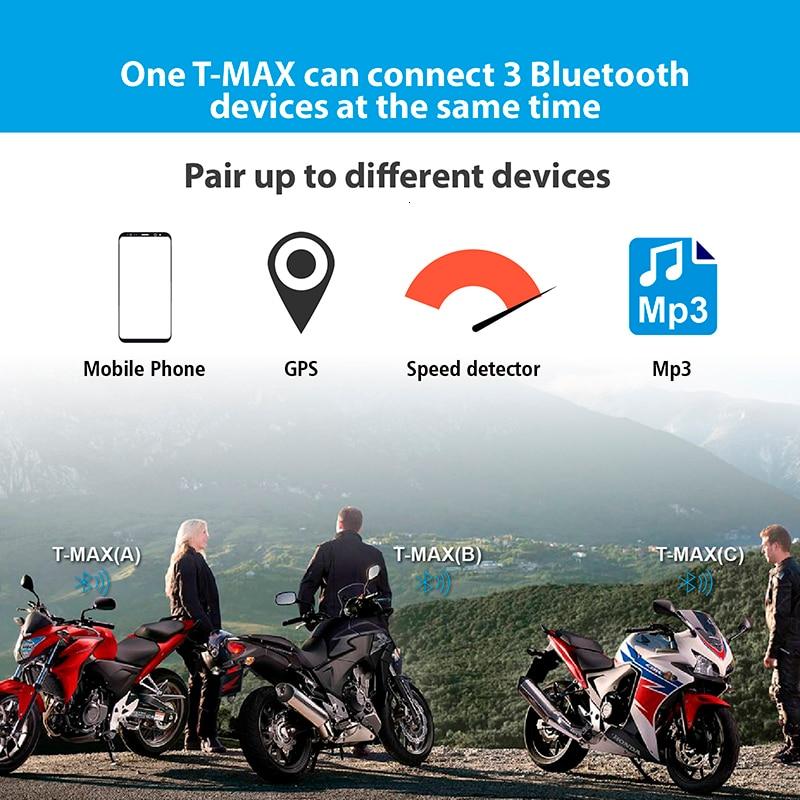 FreedConnT-max motorcycle helmet bluetooth intercom headset with FM Radio moto intercomunicado