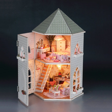 DIY Dollhouse Miniature Accessories Mini House Cravive Castle Pink Princess Girls Birthday Gift
