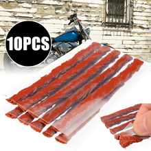 купить New Arrival 10pcs Car Motorcycle Tire Tyre Puncture Repair Rubber Strip Tubeless for Tyre Puncture Emergency Bike Repairing дешево