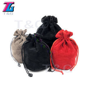 Dice Bag Double LayerJewelry Packing Velvet Drawstring Pouches for Packing Gift 2 Type 3 Colors Board Game(China)