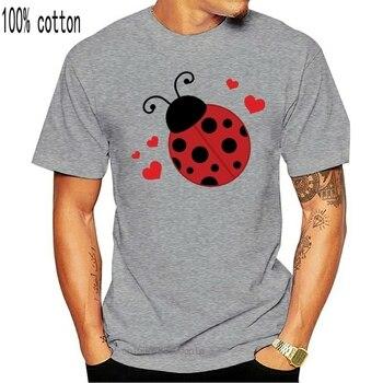 Inktastic Lady Bug ve kalpler kadın T-Shirt uğur böceği sevgilisi böcekler için sevimli yeni moda Tee gömlek