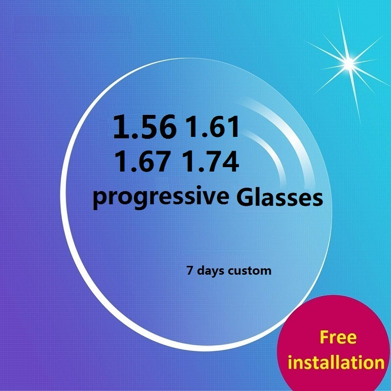 Transition progressive multi-focal glasses lenses for eyes Aspherical prescription optical myopia reading 7 days custom