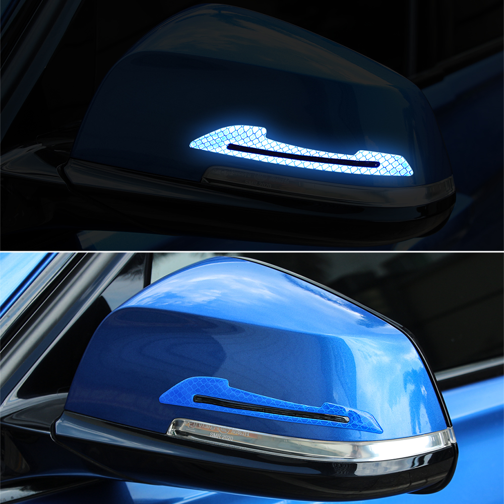 Carro reflexivo adesivos espelho retrovisor tira de proteção para lada granta vesta kalina priora vesta xray datsun mi-do on-do