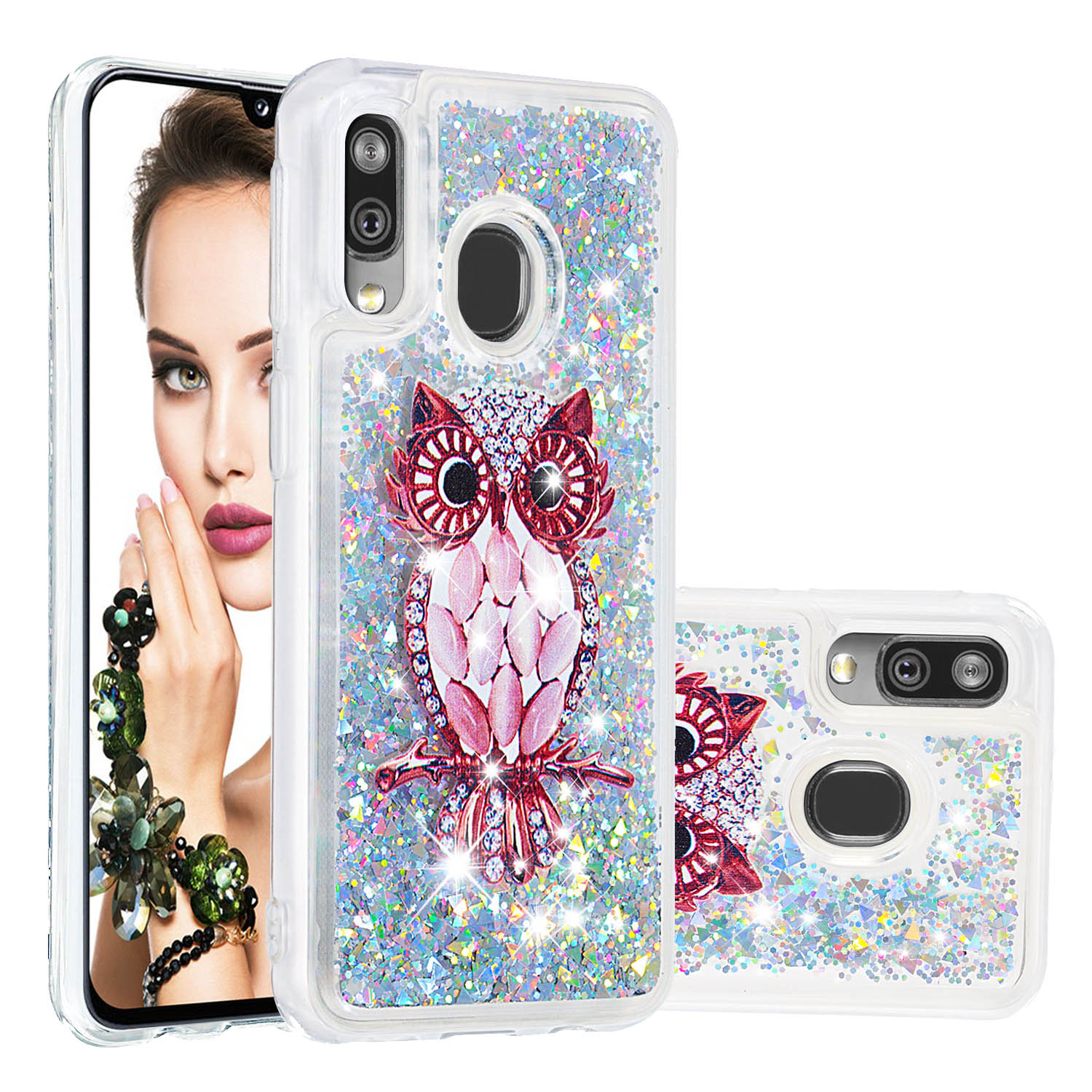 Image 5 - Liquid Quicksand Phone Cases For Samsung Galaxy A40 A20 A30 A80 A90 A60 A20e Note 10 Plus M40 Glitter Soft TPU Bumper Back Cover-in Fitted Cases from Cellphones & Telecommunications