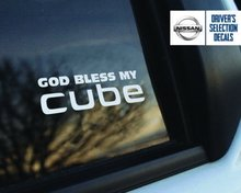 Per L'autoadesivo Della Decalcomania Dio Benedica il mio Nissan cube window Sticker decalcomanie grafici Set di 2