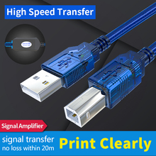 USB 2.0 Printer Cable USB2.0 Type A to B Male Dual Shielding Scanner Cord For HP Canon Epson Dell USB-B 1.5 3m 5 10m 15 20 M