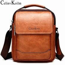 Celinv Koilm العلامة التجارية الرجال أكياس 100% عالية الجودة جلدية Shouder على حقيبة ساعي ل رجل الأزياء السببية Crossbody حمل أكياس نمط جديد