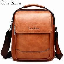 Celinv Koilm Marke Männer Taschen 100% Hohe Qualität Leder Shouder Messenger Tasche Für Mann Mode Kausalen Crossbody tasche Taschen Neue stil
