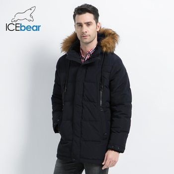 2019 nowa odzież męska moda męska kurtka z kapturem męska płaszcz grube ciepłe męskie ubrania wysokiej jakości męska Winter Parkas MWD19903D tanie i dobre opinie ICEbear CN (pochodzenie) Silk-jak Bawełna Poliester REGULAR Suknem zipper NONE Kieszenie Zamki Solid 1 5kg Na co dzień