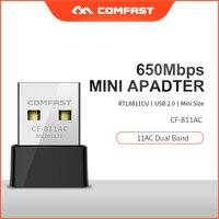 Comfast CF-811AC 650Mbps USB Wi-fi Receiver Wireless Network Card 802.11ac/b/n/g USB wi fi Ethernet adapter 5Ghz PC wifi dongle