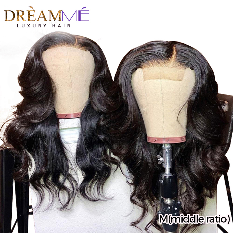 Colored Honey Blonde Red Blue Lace Front Human Hair Wig Transparent Lace 13X6 DeepPart Remy Hair Wig Ombre Wig M(middle Ratio)