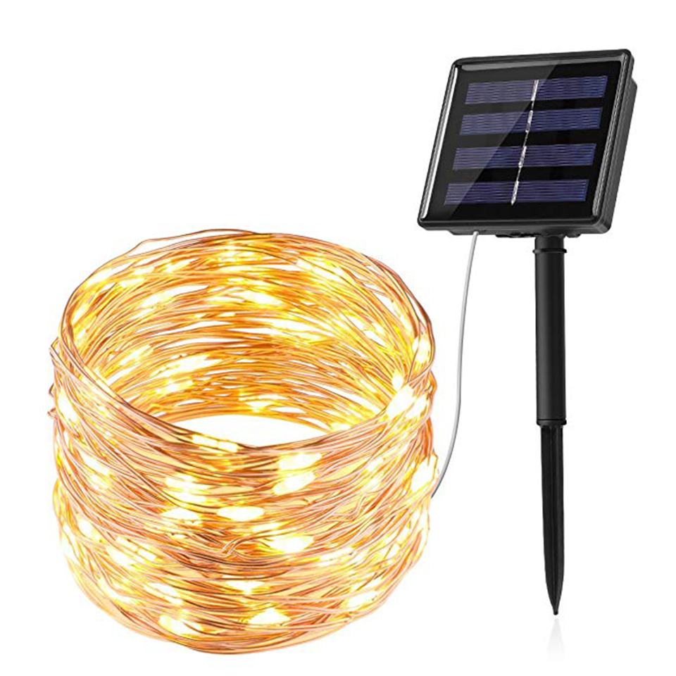 Solar Led String Fairy Lights Waterproof for Garden Decor Solar Powered Led Strip Light Lawn Lamps Patio Christmas Holiday Party|LED Lawn Lamps| |  - title=