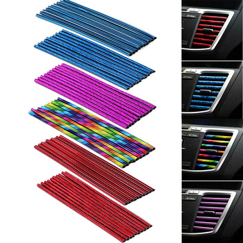 10pcs car Air Outlet Decoration strip Blade Chrome Trim Strip Bumper For BMW m3 m5 e46 e39 e36 e90 e60 f30 e30 e34 e53 f20 e87 image
