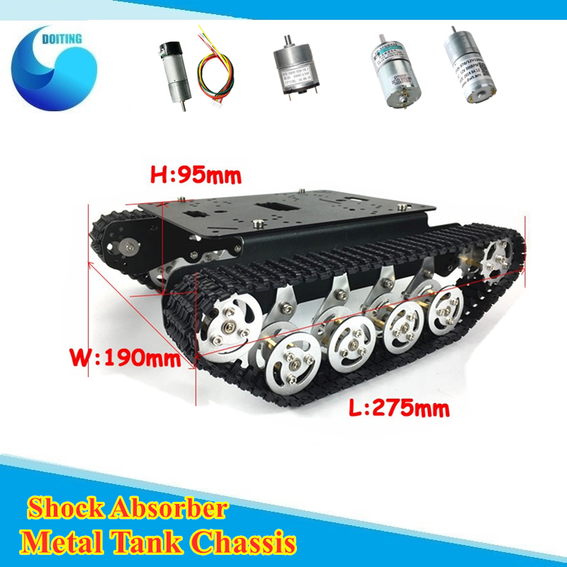 <font><b>TS100</b></font> Shock Absorber Metal Robot <font><b>Tank</b></font> Car Kit Chassis for Arduino uno r3 raspberry tracked crawler caterpillar suspension system image