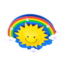 Children Chandelier Sun Cartoon Personality Cute Rainbow Cloud Bedroom Lamp Boy Girl Warm Creative