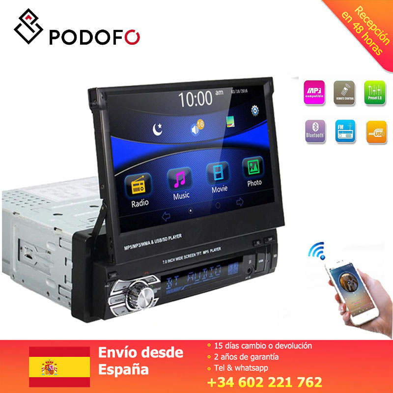 Podofo 1Din voiture Audio 7