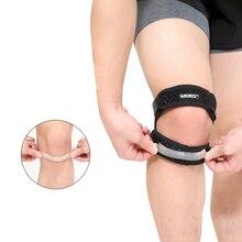 цена на Adjustable Patella Knee Tendon Strap Protector Guard Support Pad Belted Sports Knee Brace Black Keenpads Outdoor
