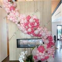 170 Uds. Decoración del hogar globo arco Pastel rojo rosado 5 ''10'' globos guirnalda para la decoración del cumpleaños de la boda