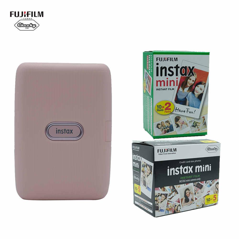 Fujifilm Mini Link мобильный принтер печатающий фотографии с телефона + 10 20 50 листов Fujifilm Instax пленка для смартфона фотопринтер