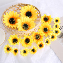 Flowers-Head Scrapbooking-Accessories Wreath Wedding-Decoration Silk Artificial-Daisy