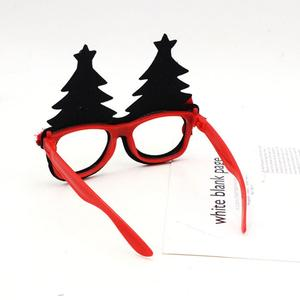 Plastic Christmas Glasses Frames Party Supplies Props Cartoon Xmas Ornaments Glasses Gift Fashion Evening Glasses Frames Decor